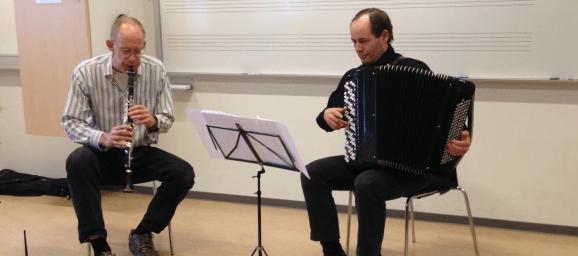Albansk koncert på kurset