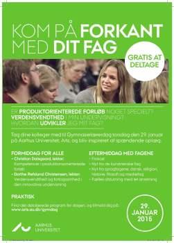 Aarhus Universitet Arts Gymnasielaererdag-2015