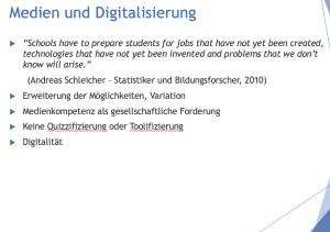 Medienkonzept und Mediencurriculum