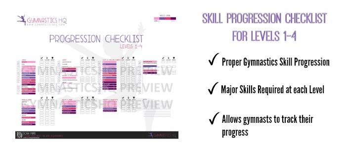gymnastics skill progression checklist level 3