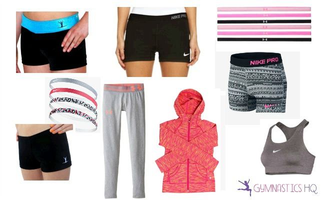 gymnastics gifts workout shorts headbands
