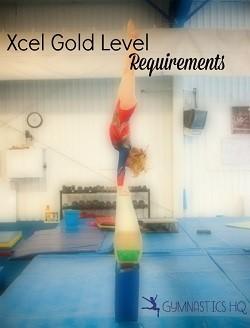 xcel gold level requirements gymnastics