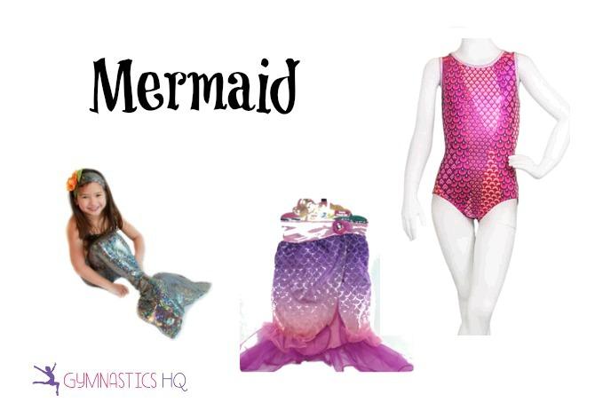 mermaid costume with leotard