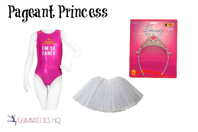 pageant princess costume with gymnastics leotard
