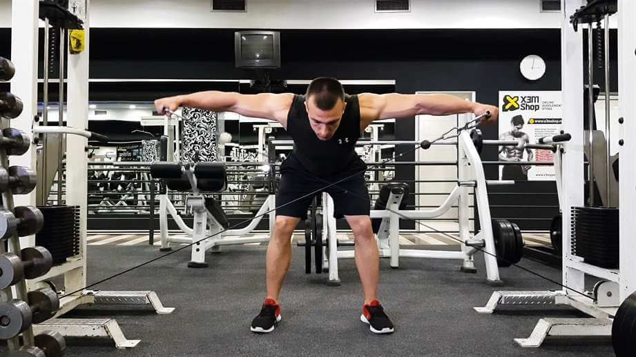 Low Pulley Bent-Over Lateral Raises