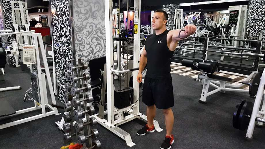 Single Arm Cable Lateral Raises