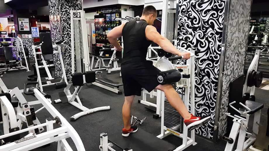 Standing Machine Hip Abductions