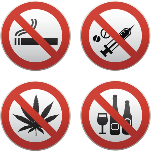 Say No to smoking and  alcohol