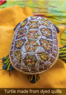 Turtle created by Tara Francis. Photo by Stephen Brake