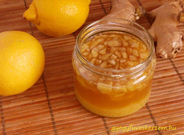 Gyömbéres citromos méz, megfázás, immunerősítő, ízületi fájdalmak, emésztés