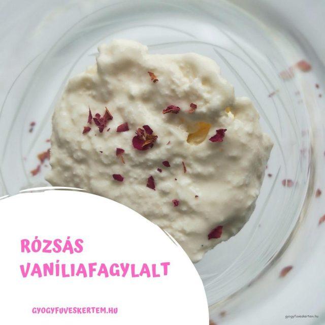 rózsás vaníliafagylalt
