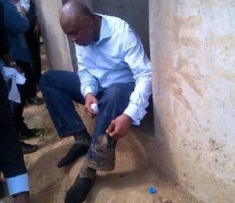 Senate president Saraki was stoned during the prayer