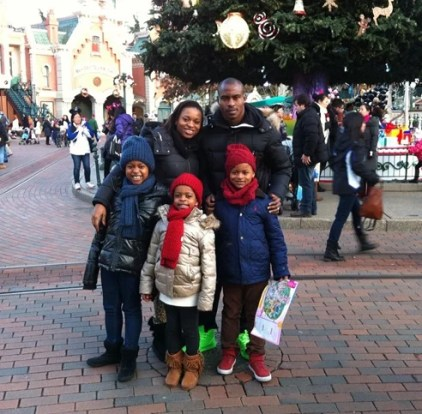 Vincent Enyeama's Wife and His Children