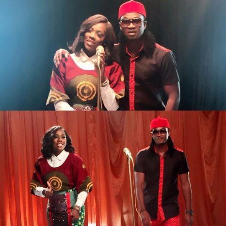 Tiwa Savage and Paul Okoye