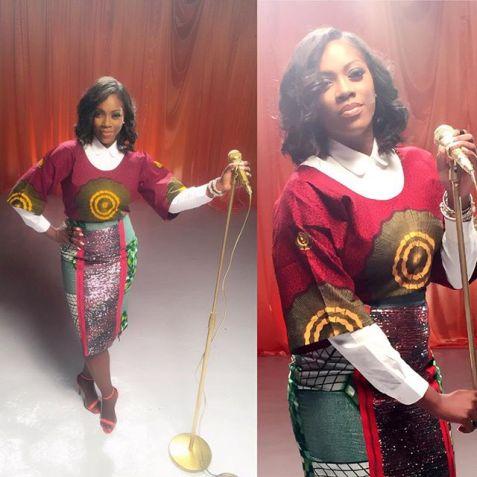 Tiwa Savage in Buba Dress