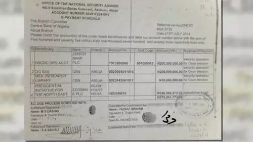 Sambo Dasuki Arms Deal Leaked Document 01