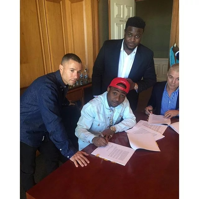 Davido Signed Sony Music Deal 00
