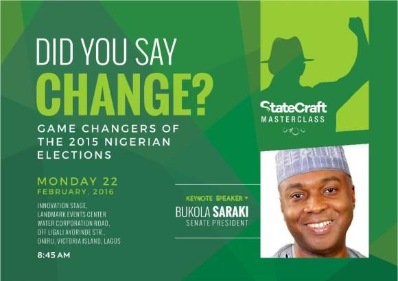 Bukola Saraki at Social Media Week Lagos