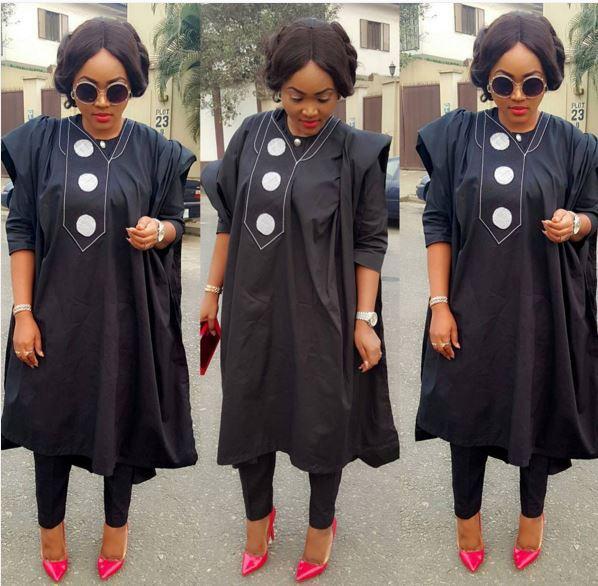 Mercy Aigbe agbada dress 00