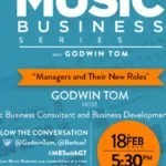 "#MBSWithGT : Ex-Miss Elliot's Manager, Wizkid's Manager, Asa's Manager and Chocolate City Music's Manager join Godwin Tom on "" Music Business Series with Godwin Tom "" Tagged "" Managers and Their New Roles "" , Find all the Scoop Here, If You Miss It"