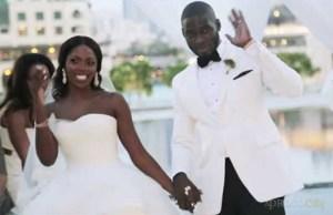 Tee-Billz and Tiwa Savage White Wedding