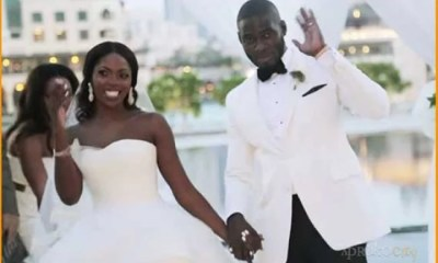 Tee-Billz and Tiwa Savage White Wedding