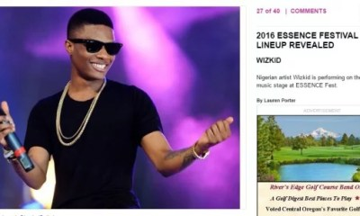 Wizkid to perform at Essence Festival 2016