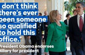 Barrack Obama Endorse Hillary Clinton