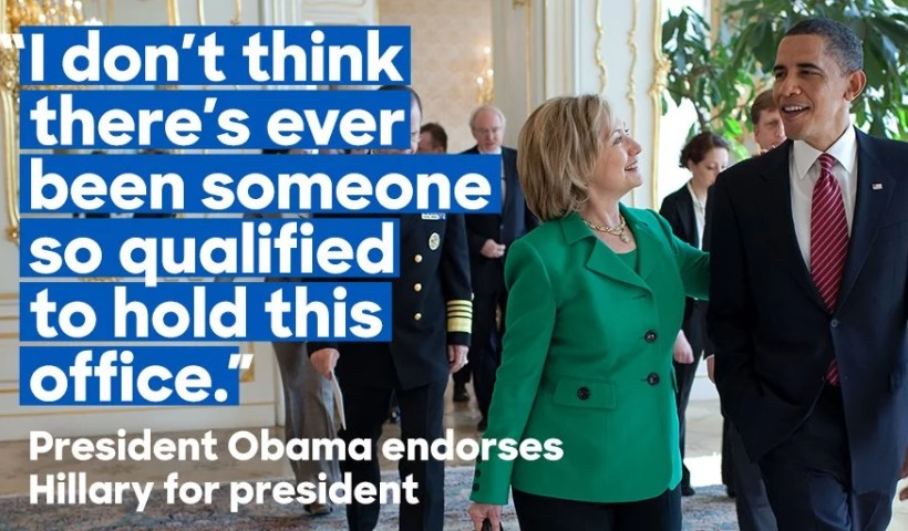 Barrack Obama Endorse Hillary Clinton