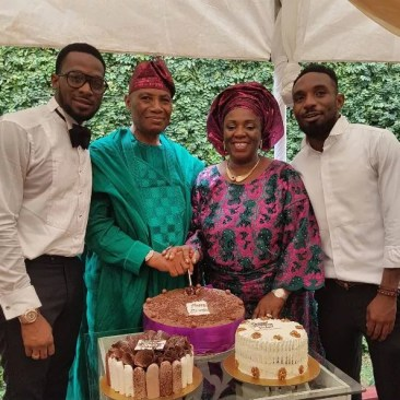 Dbanj and his family