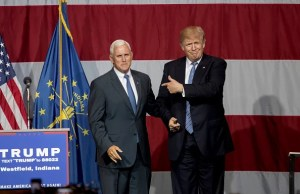 Mike Pence and Donald Trump