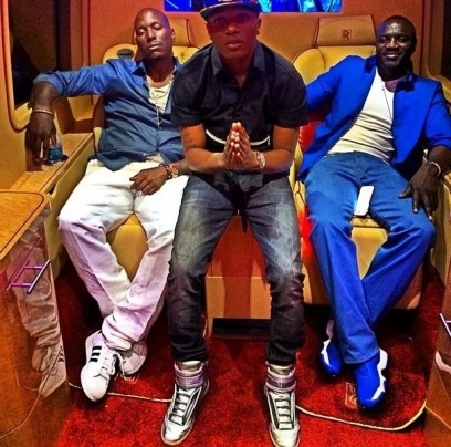 Wizkid, Tyrese Gibson, and Akon