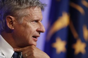"Gary Johnson, 2016 Libertarian presidential nominee, speaks during a campaign event at Purdue University in West Lafayette, Indiana, U.S., on Tuesday, Sept. 13, 2016. Johnson said he was ""incredibly frustrated"" with himself after failing to recognize the name of the Syrian city of Aleppo in a TV interview last week. Photographer: Luke Sharrett/Bloomberg via Getty Images"