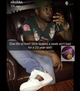 davido-boasts-of-his-weekly-earnings-on-his-snapchat
