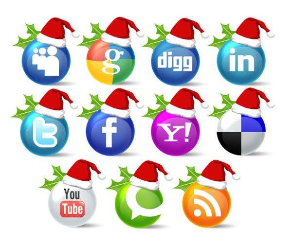 Social Media Christmas Icon