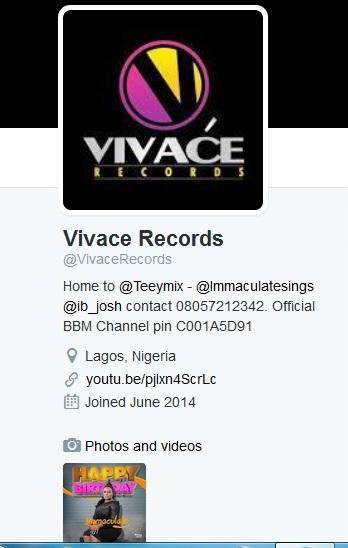 Vivace Records Drop Oyinkanade
