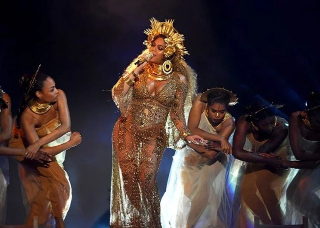 Beyonce Performed at 2017 Grammy Awards