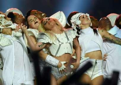 Lady Gaga Super Bowl Half-time Performance 02