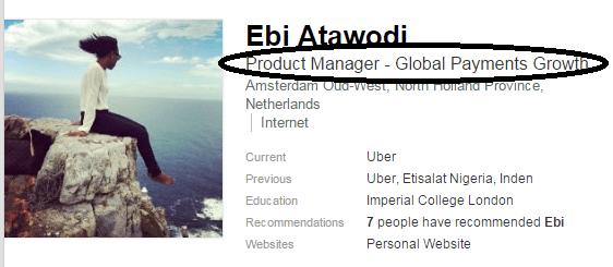 Ebi-Atawodi Uber