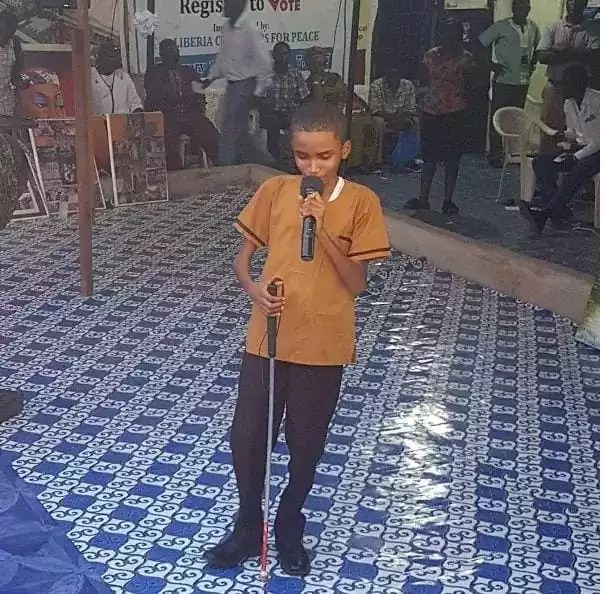 Liberian BLIND boy sings Flavour's songs better than him