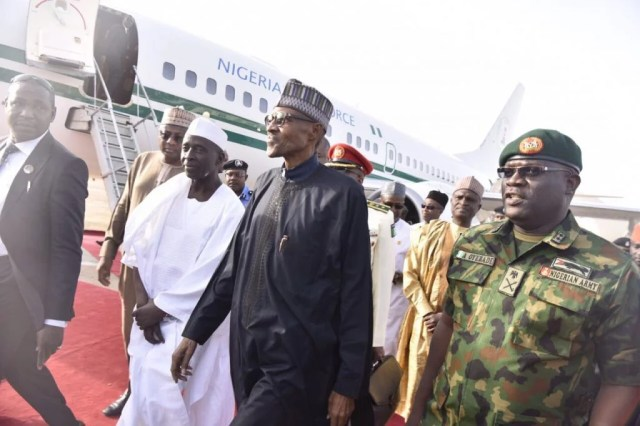 President Buhari Arrives Nigeria from Medical Vacation in London
