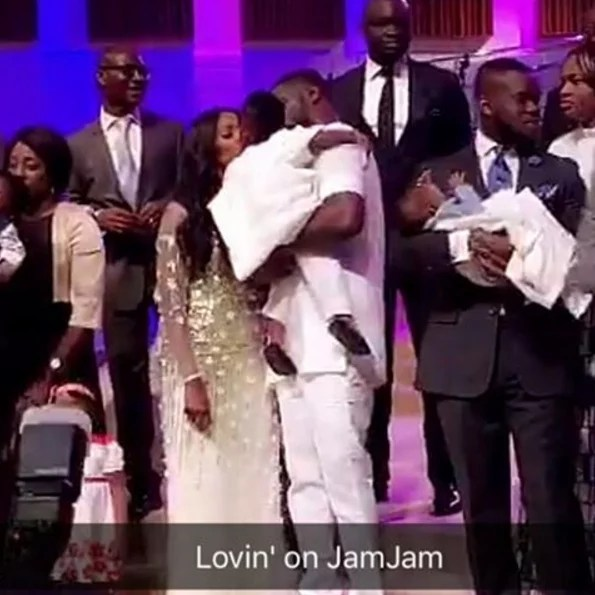 Tiwa Savage and Teeblizz Dedication of Jamil in Church 02