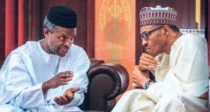 Acting President Osinbajo and President Buhari