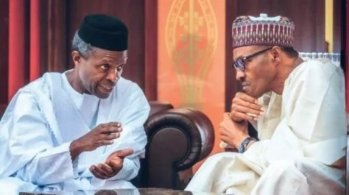 Acting President Osinbajo and President Buhari