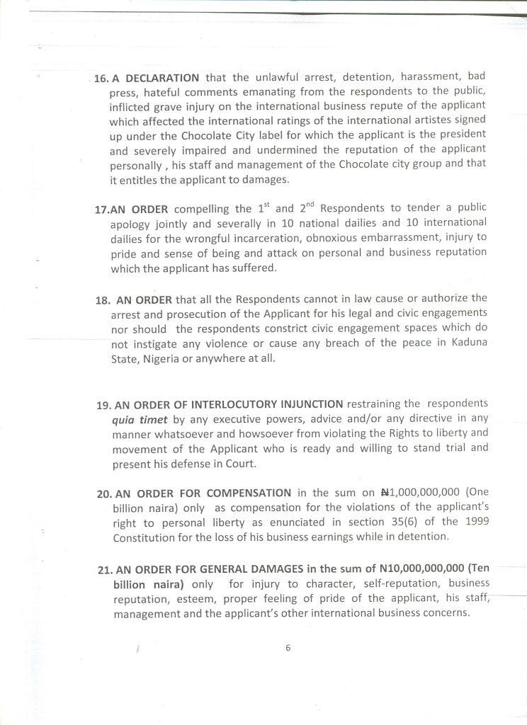 Audu Maikori Sues Governor El Rufai 04
