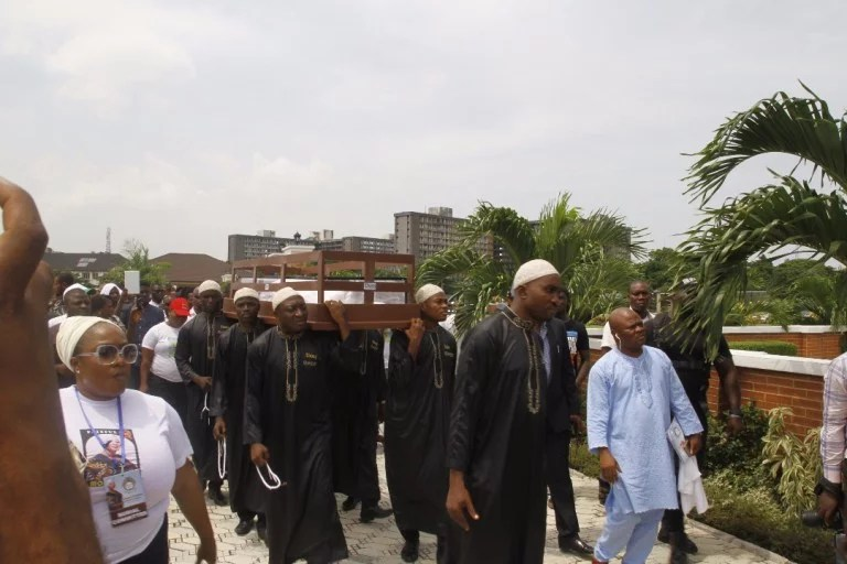 Moji Olaiya was buried Lagos