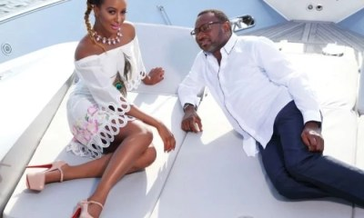 DJ Cuppy and Femi Otedola