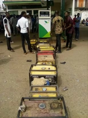 Generator owners queue at Filling Station 02