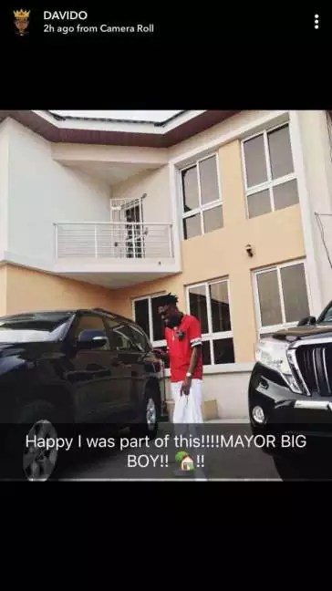 Davido Comment On Mayorkun New House