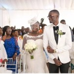 Photos From Popular Ghanaian Celebrity Blogger Ameyaw Debrah White Wedding In Accra